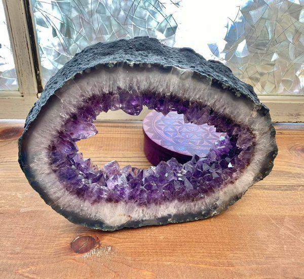Amethyst Geode Ring