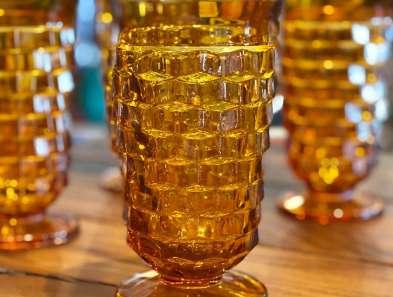 Vintage Amber Glass