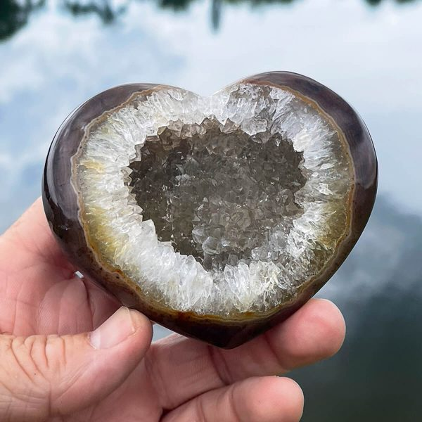 Agate Druzy Heart